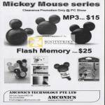 Amconics Mickey Mouse MP3 Flash Memory Players