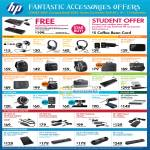 HP Accessories Audio Headset Speakers Bag Webcam Notebook Adapter Battery
