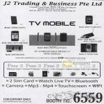 J2 TV Mobile C5000 Mini DV W001 K600 K Touch T668