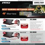 MSI Gaming Notebook GT628 GT729