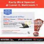 Singtel Singnet Early Bird ADSL Broadband On Mobile Offer