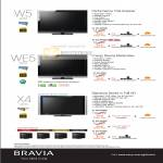 Sony Bravia W5 WE5 X4 TV
