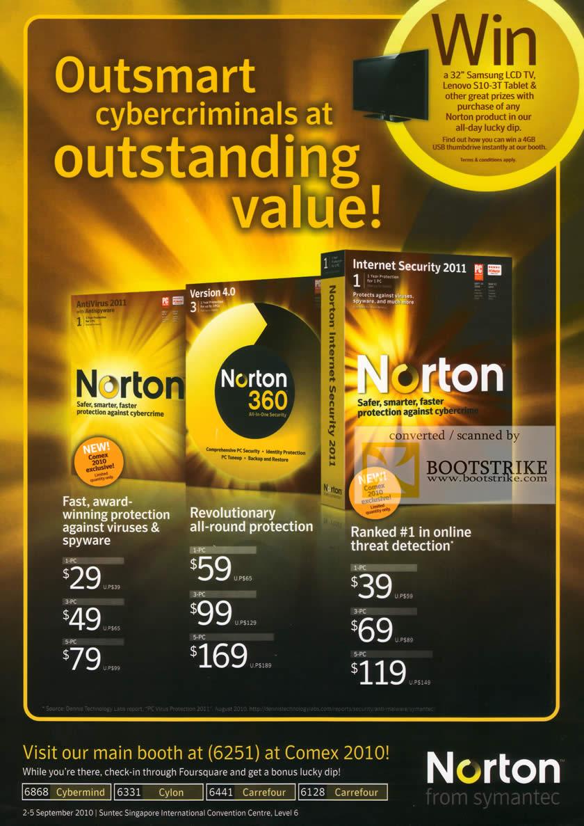 norton antivirus 2010  price