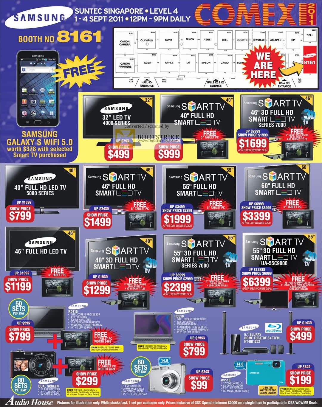 Audio House Samsung TV 3D LED Smart UA-55C9000 Notebooks ...