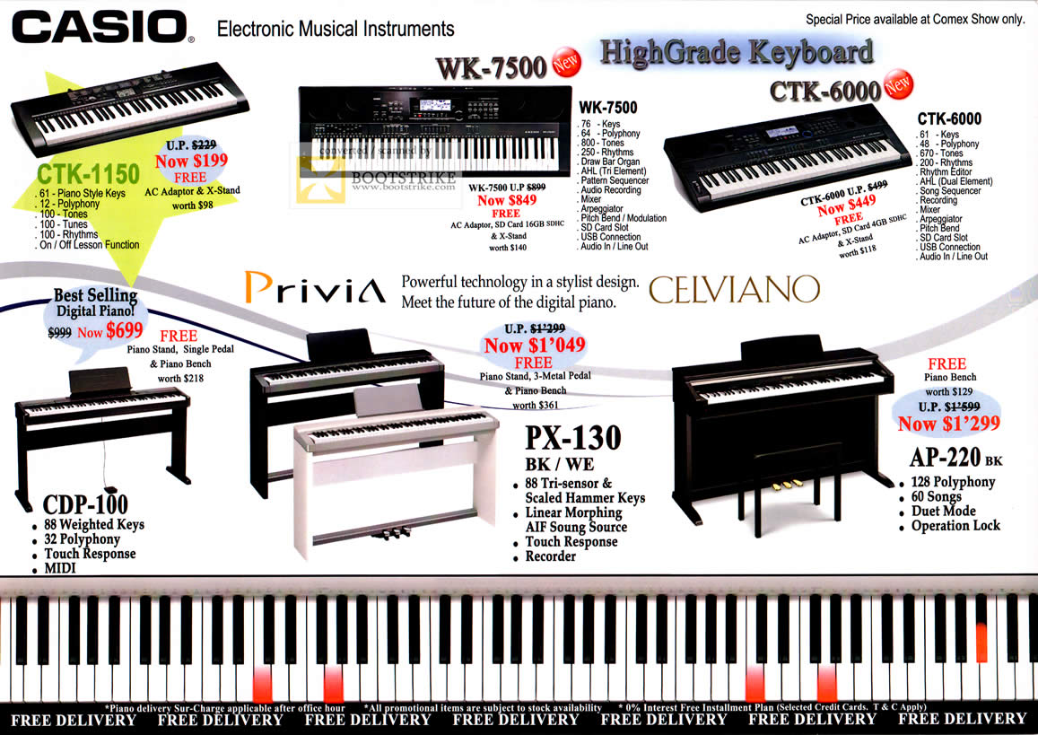 Electronic Musical Instruments : Casio electronic musical instruments ctk wk