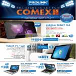 Prolink Android Tablet TA8 PC TW8 Glee Netbook UW3 Notebook SW9