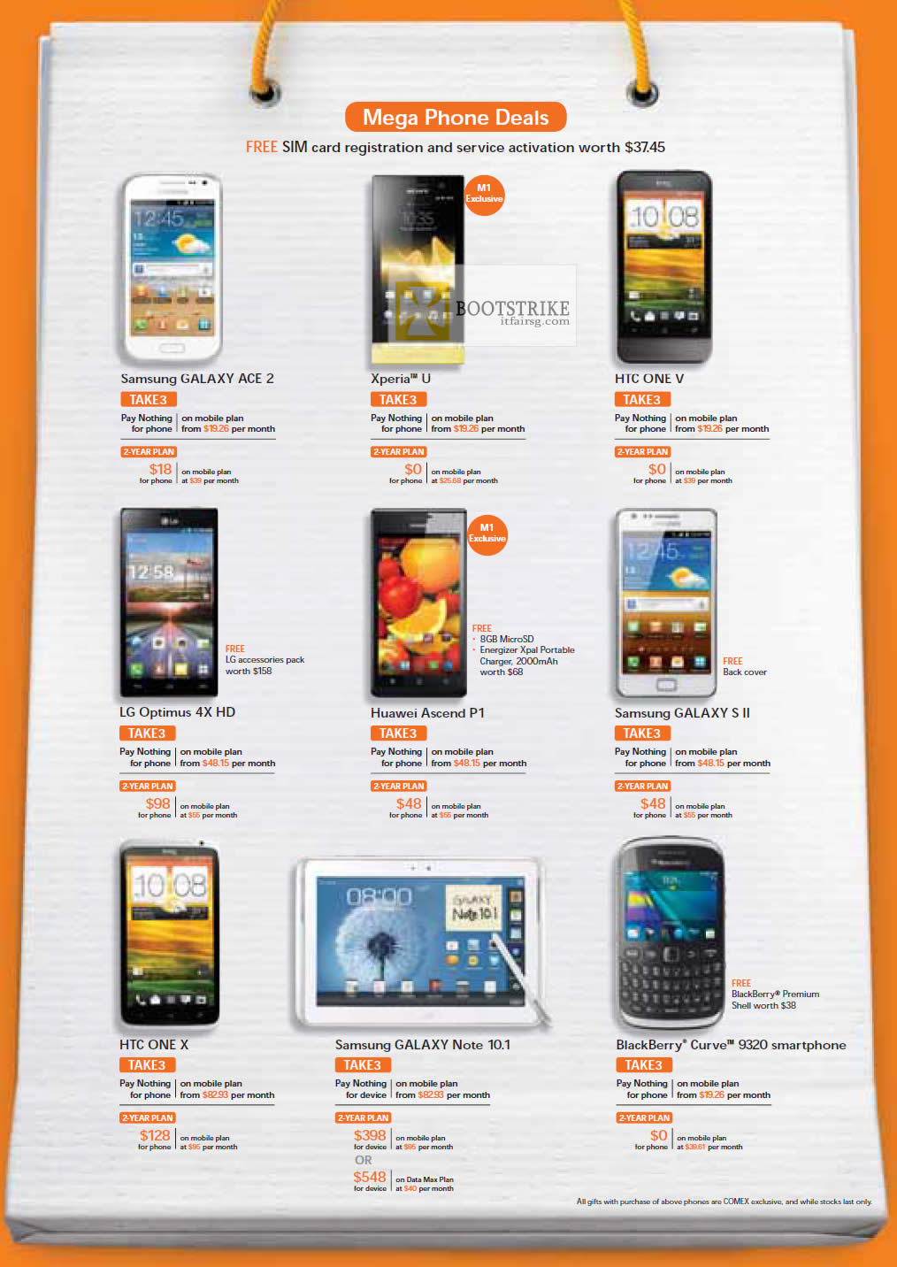 Samsung Galaxy Ace 2, S II, Note 10.1, Sony Xperia U, HTC One V, X, LG