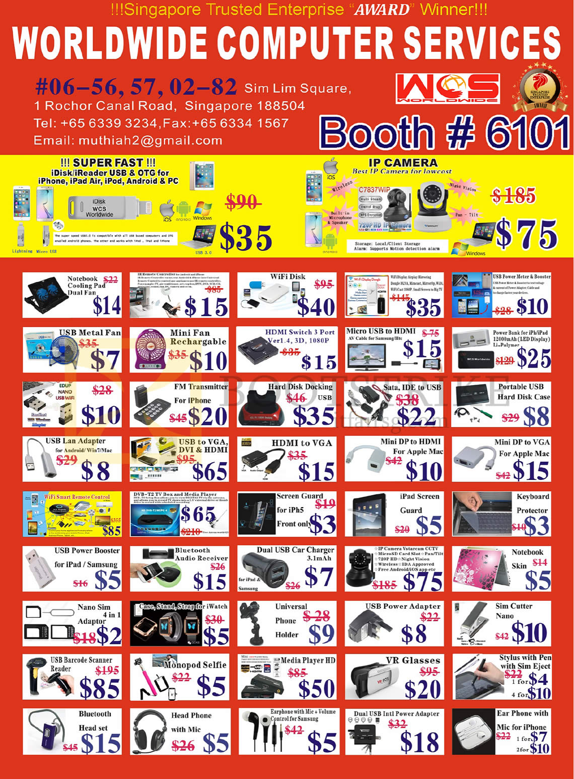 Worldwide Computer Accessories Ip Camera Idisk Ireader Notebook Cooling Pad 14 15 Comex 2016 Price List Image Brochure Of