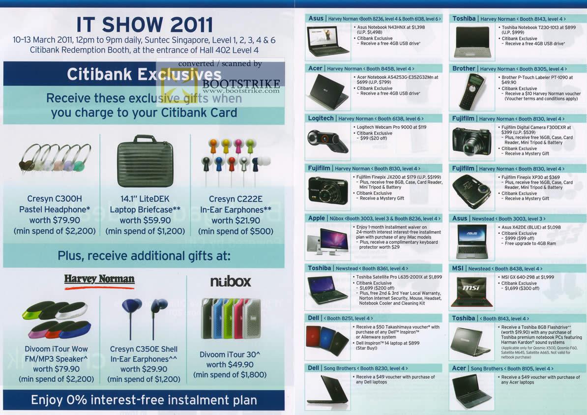 Citibank Rewards Cresyn C300h Litedek C222e Divoom Itour