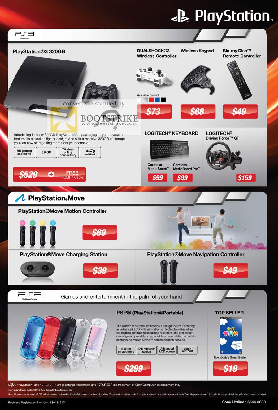 Sony Playstation 3 PS3 320GB Dualshock 3 Wireless Blu Ray