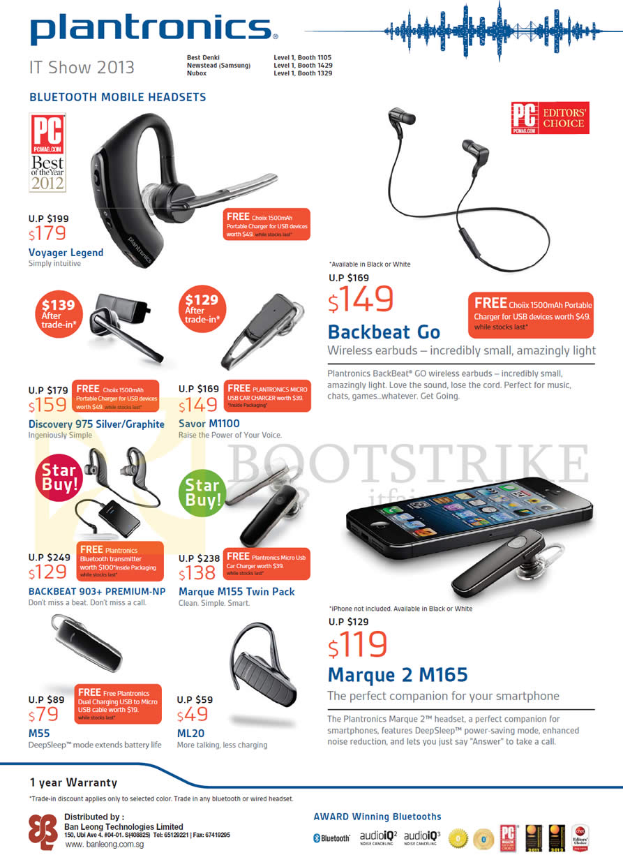 Plantronics Bluetooth Headsets Prices Voyager Legend Backbeat Go Edge Black Headset It Show 2013 Price List Image Brochure Of