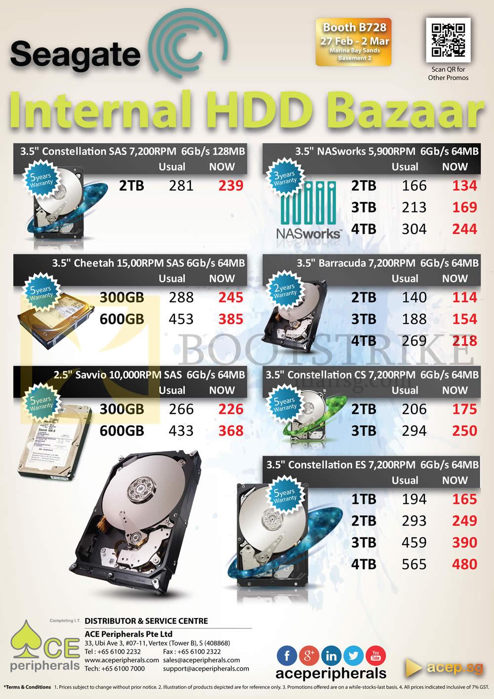 Ace Peripherals Seagate Internal HDD HardDisk Barracuda NASworks 1TB