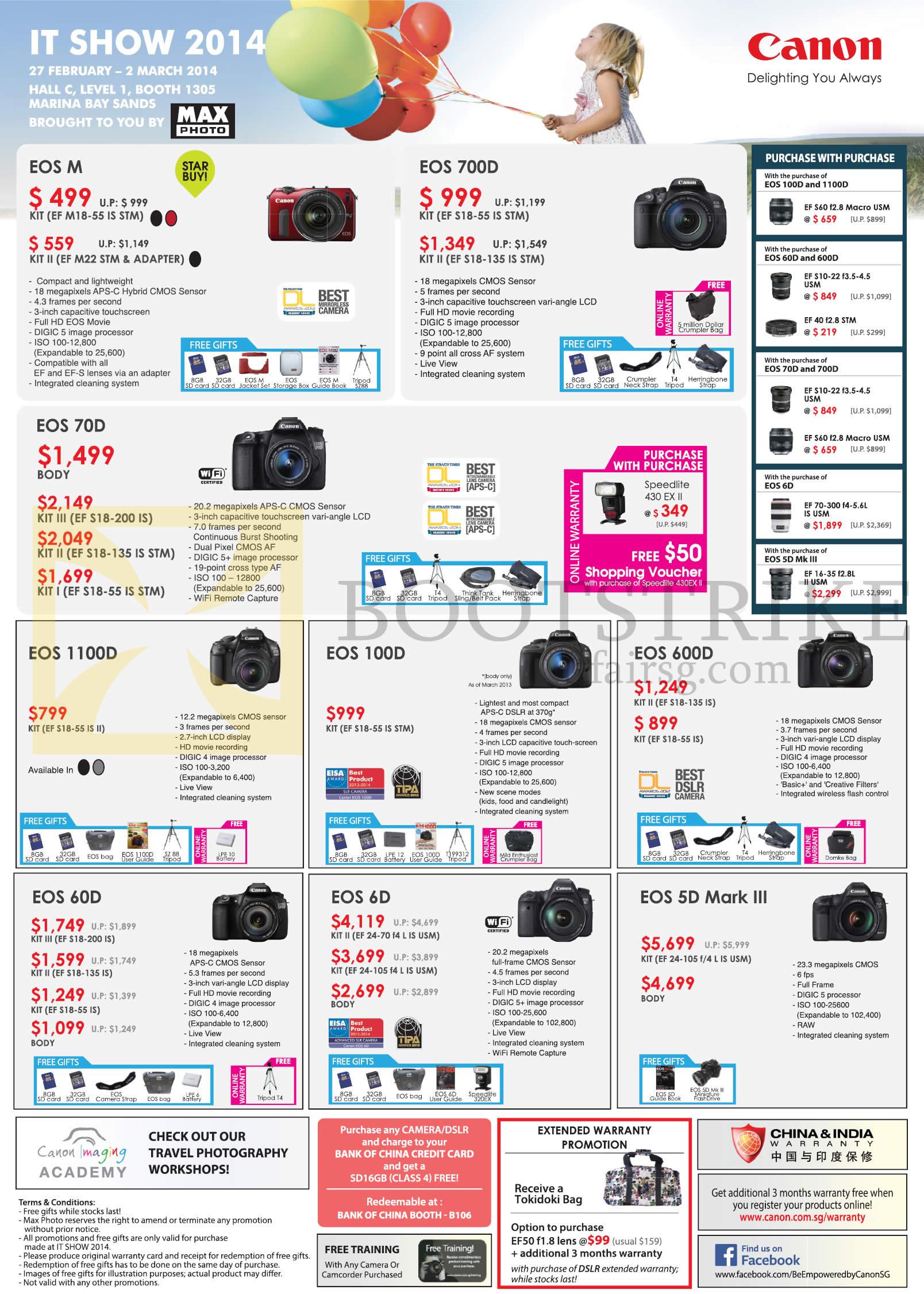 Camera Canon Dslr Camera Models List canon digital imaging promotion camera deal in town dslr cameras eos m 700d 70d 1100d 100d 600d 60d 6d 5d mark iii
