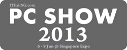 Singapore PC SHOW 2013 IT Show Exhibition @ Singapore Expo 6 Jun 2013 - 9 Jun 2013
