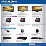 Fida Prolink LCD TV Monitor PRO Wired Keyboard Mouse USB PS2
