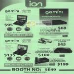 Ion Gemini Live View 7500 DVD Writer External 9500 Scanner Media Player