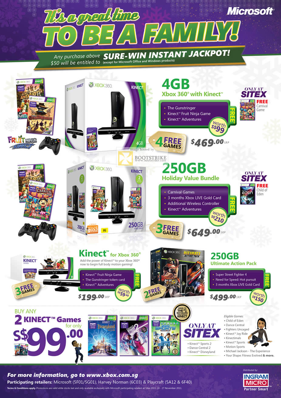 Xbox 360 Games List : Microsoft xbox with kinect holiday value bundle gb