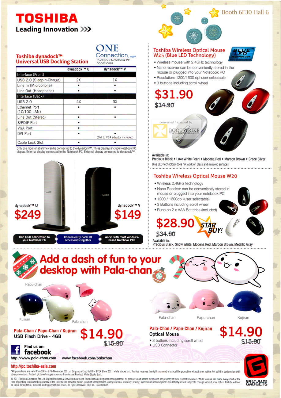 Newstead Toshiba Dynadock Universal Usb Docking Station Wireless Mouse Sitex 2011 Price List Image Brochure Of
