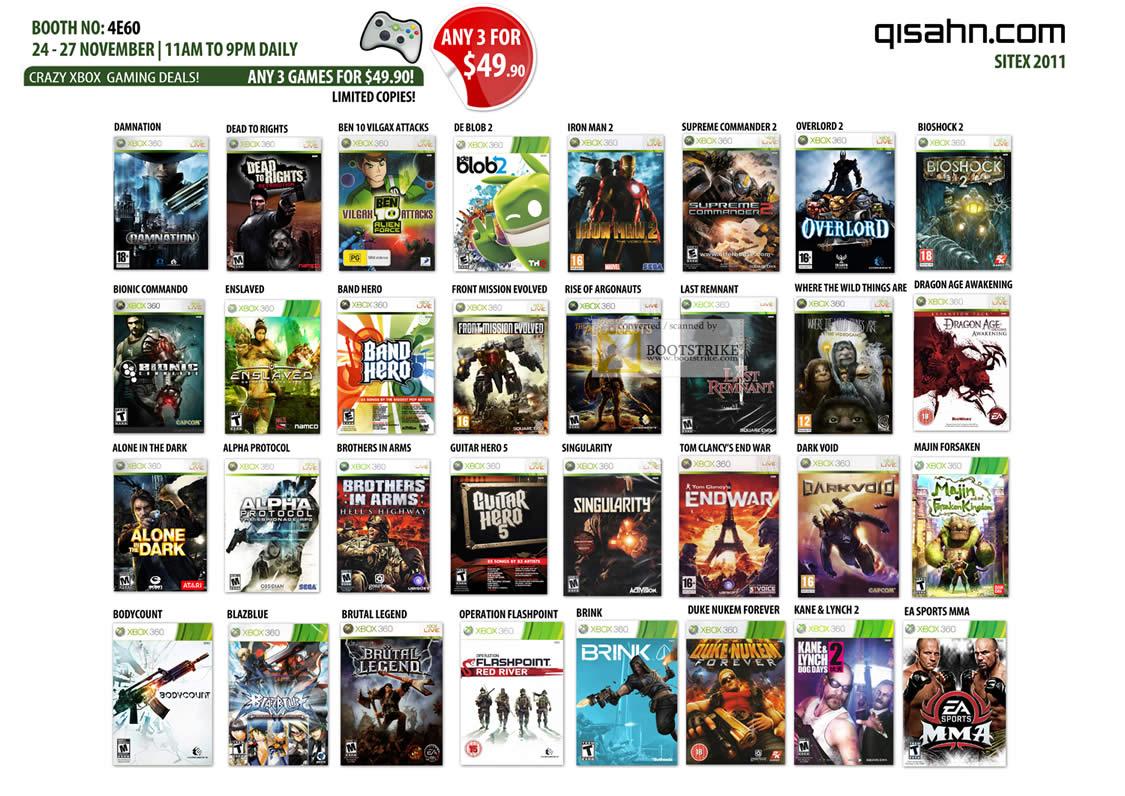 Xbox 360 Games List : Qisahn microsoft xbox games iron man bioshock