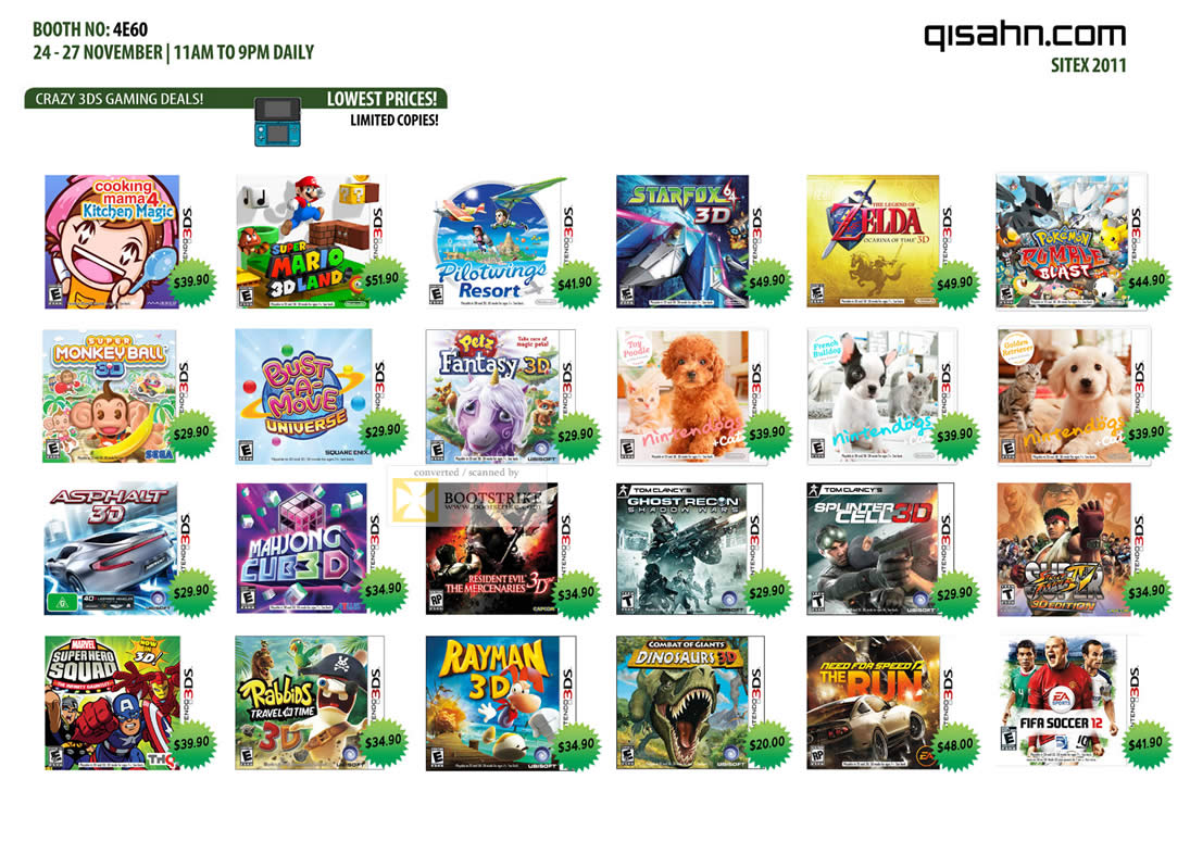 Nintendo 3DS Games List