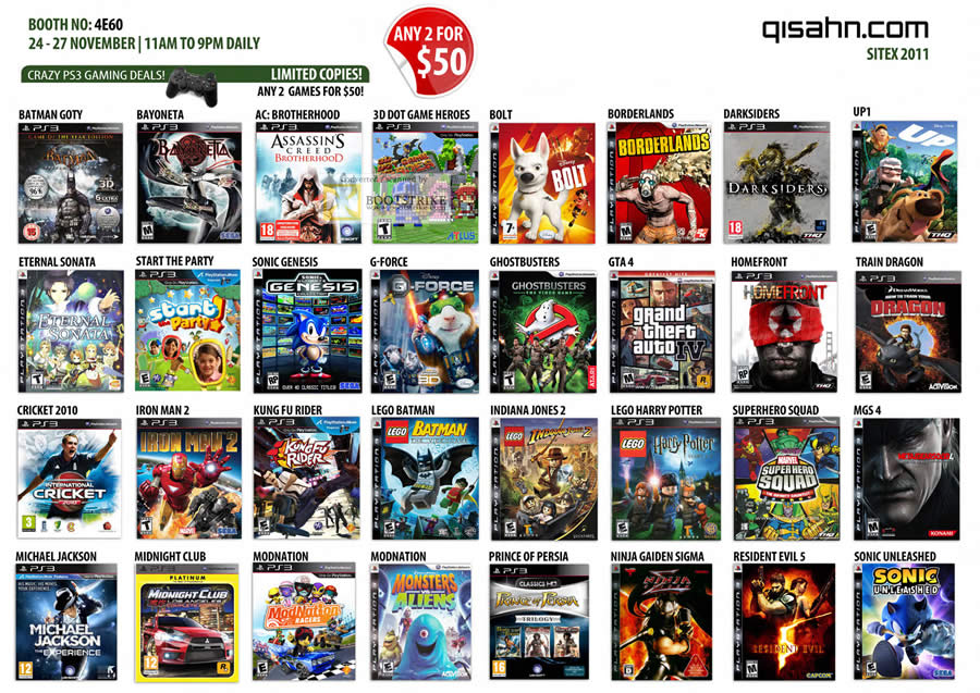 All North American Retail Release Playstation 3 Games