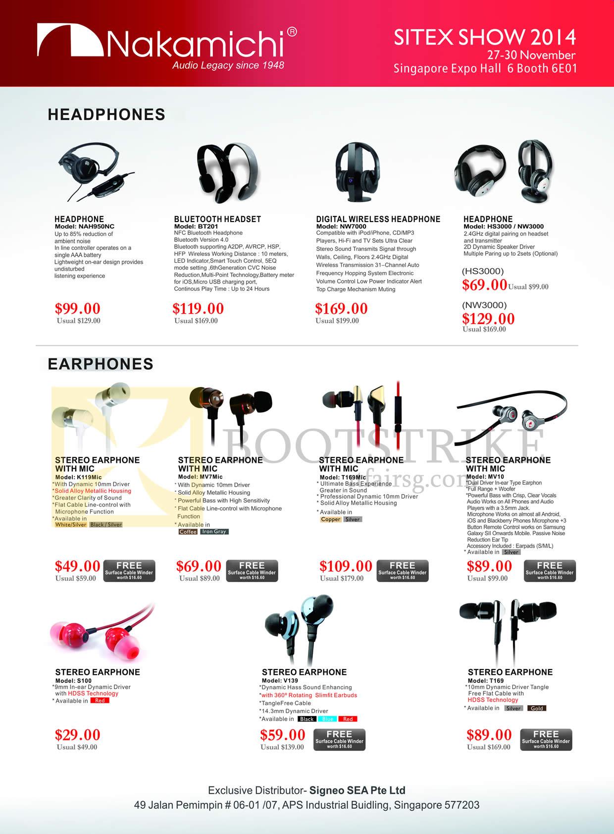 Epicentre Nakamichi Headphones, Earphones, Bluetooth